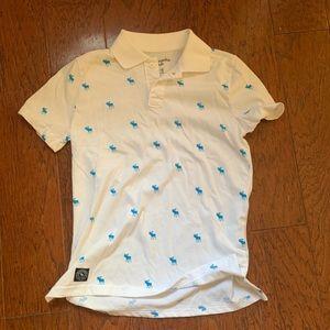 Abercrombie kids polo logo white nwot collar dress